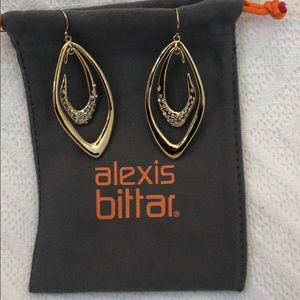 Gold and Crystal Encrusted Alexis Bittar Earrings